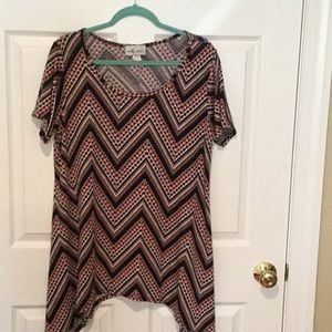 Shark bite tunic sz 1X